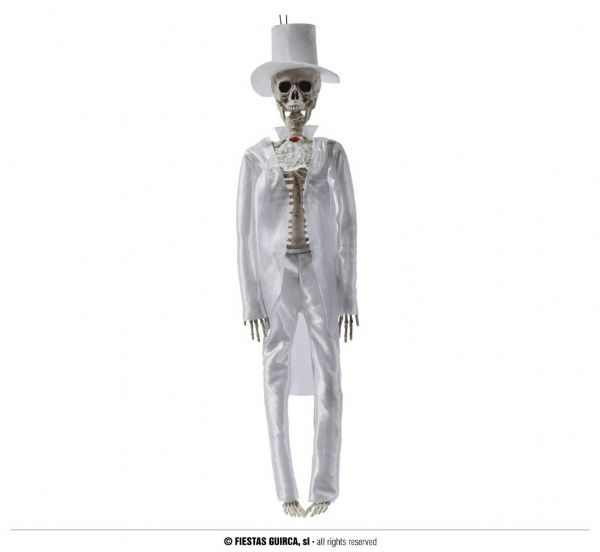 WHITE GROOM HANGING